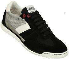 Moschino Black & Grey Suede Low Top Trainer
