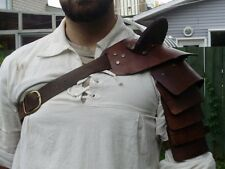 Gladiator hardened leather shoulder armor,spartacus, roman SCA LARP