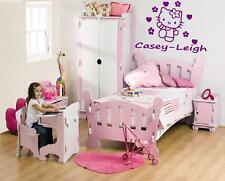 PERSONALISED HELLO KITTY - WALL ART DECAL STICKER