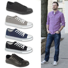 Boys Mens Canvas Casual Lace Up Trainers Plimsoles Plimsolls Shoes Pumps UK 7-12