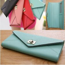 Women Long Wallet Clutch Card Bill Wallet Zipper Wallet Genuine COW Leather 524A
