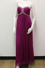 Sonia J Beaded Sweetheart Neck W/Pleated Bodice Prom/Evening/Bridesmaid Dress