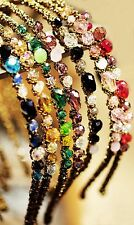 1pc Women Girl Lady Colorful Delicate Crystal Rhinestone Look Headband Hair Band