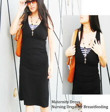 DIANA Maternity Dress Breastfeeding Dresses Nursing  Maternity Clothing BLK New
