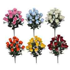 Artificial Roses - 18 Silk Rose Heads - 8 Different Colours