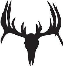 Deer Skull Silhouette Decal - Several Colors / Sizes Available