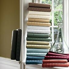 UK SIZE STRIPE SHEET SET CHOOSE COLORS 1000 THREAD COUNT 100% EGYPTIAN COTTON