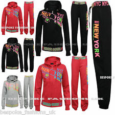 New Women's New York City Full Ladies NYC Hooded Tracksuit Hooded Size 8 - 14