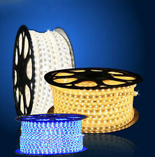 AC 220-240V Narrow 5050 Flexible LED SMD Strip Light 60LEDs /Meter IP65 + Plug