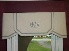 Custom Ordering Listing Ivory Natural or White & Gray Classic Valance Order Only