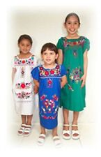 PUEBLA Dress Mexico Girls Child Costume 4 Colors - YOU PICK - SIZE 5 Sweet!