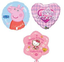 FOIL 18in GIRLS BIRTHDAY BALLOON FOR HELIUM CHOICE OF DESIGNS