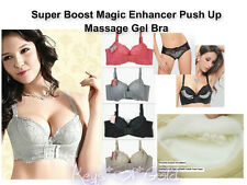 USA Super Boost Magic Enhancer Push Up Bra Gel Padded/Massage/ Wide Side Support