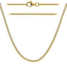 Sterling Silver 925 Gold Plated 2mm Italian Popcorn Chain w/Silver Lobster Clasp