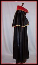 CAPTAIN HARLOCK Cape Space Pirate Long Cloak Stiff Collar Gold Trim S to XL USA