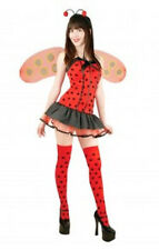 Lady Bug Hottie Insect Animal Red Dress Up Halloween Sexy Adult Costume w/ Wings