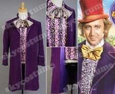 Willy Wonka Charlie and the Chocolate Factory Cosplay Costume Coat Vest Bow Tie