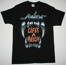RAVEN LIFE'S A BITCH'87 HEAVY SPEED METAL NWOBHM DIAMOND HEAD NEW BLACK T-SHIRT