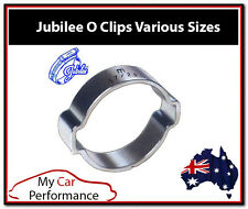 Zinc Plated Double Ear O Clip - Eared Fuel Hose Petrol Pipe Silicone Clamps