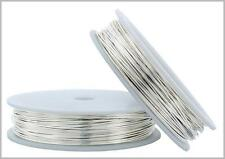 5 FT Fine Silver Round Wire 16-26 Gauge 999 Pure Solid Dead Soft - MADE IN USA