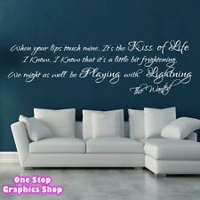 THE WANTED LIGHTNING SONG LYRICS WALL ART STICKER - BEDROOM LOVE DECAL