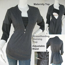 JENNY Maternity Clothing, Nursing Top GREY Breastfeeding Top NEW Pregnancy Top