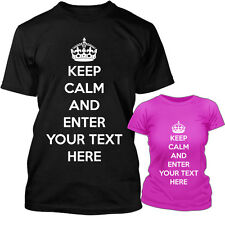 keep calm and your choice tshirt unisex mens womens personalised custom t-shirt