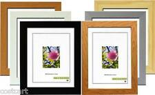 Wooden Effect Picture Frame Square Size Photo Frames Stand Wall Hang With Glass