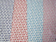 SMALL FUNKY FLORAL COTTON POLY FABRIC SPRING MEADOW FLOWERS PER METRE 4 COLOURS