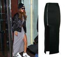 Latest  Womens Ladies Rihanna Inspired Thigh Split Zip Long Sexy Maxi Skirt