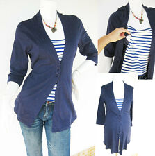 CARO Maternity Clothing Petite Nursing Cardigan Shirt NAVY Breastfeeding Tops