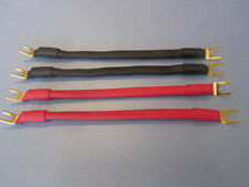 Q Power  11 AWG BiWire Speaker Jumper Cable, Spade Plugs.