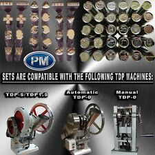 TABLET / PILL PRESS MOULD & DIE SET FOR TDP-0, TDP-1.5 OR TDP-5 WITH ANY LOGO