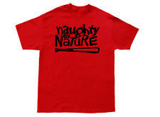 Naughty By Nature T shirt OPP Wu Tang Hip Hop Crewneck Hoodie Tank  Jumper *Red*