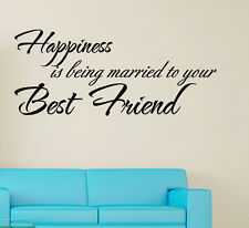 BEING MARRIED TO YOU BEST FRIEND Wall Quote Wall Decal Sticker Love Gift idea