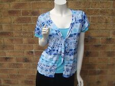 MARKS & SPENCER PER UNA KNOTTED FRONT TOP / SHIRT  UK 12 & 16 RRP £29.50