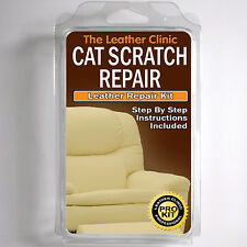 TLC Leather CAT SCRATCH Repair Kit.  Easy to Use. Complete with Filler & Colour.