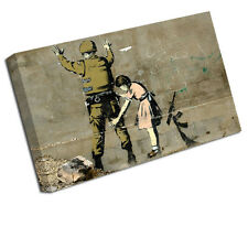 Banksy toile Art Imprimer GIRL SEARCHING SOLDIER Mur Photo BA20