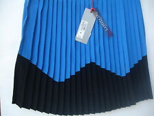 M&S LIMITED COLLECTION WAVE PLEAT MINI SKIRT COBALT BLUE UK 8.10.12.16 RRP £35
