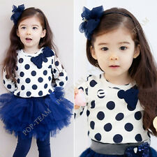 Toddler Girls Kids Clothes 2pcs Set Dress Top & Leggings SKirts 2-8Y Outfits TY3