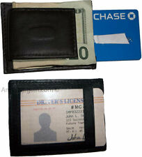 Men's Leather Money Clip, Credit card/ID holder wallet with magnetic money clip