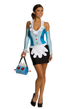 LICENSED ROSIE THE MAID THE JETSONS WOMENS FANCY DRESS HALLOWEEN COSTUME
