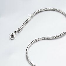 """0.9mm 16""""-40"""" Silver Stainless Steel Snake Necklace Chain Sb35 USA Seller"""