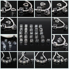 Wholesale Alphabet 26 Letters Silver Plated Euro Charm Spacer Beads Fit DIY