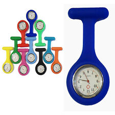 New Fashion Silicone Nurses Watch FOB Brooch Tunic Medical With Free Battery