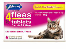 Johnsons Cat Kitten Flea Tablets Starts Killing Fleas in 15 Minutes 3pk 6pk