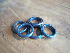 Solid Hematite Ring - Choose Size R or S - Free P&P