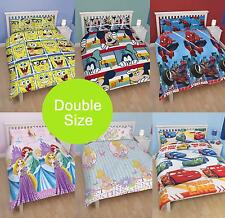 GIRLS BOYS KIDS CHILDRENS TV CHARACTER DOUBLE SIZE BEDDING DUVET QUILT COVER SET