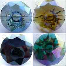 25mm Crystal Glass Button - 1 hole Round Shape - 6 colours to choose from - 1pc