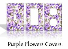 Purple Flowers Light Switch Covers Floral Home Decor Outlet